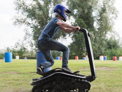 shredder rijden op Watergoed